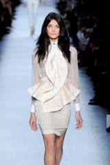 Givenchy Spring 2012 Sheer White Blouse with Cuff Details in White - Lyst