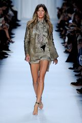 Givenchy Spring 2012 Silk Satin Mini Shorts  in Khaki (grey) - Lyst