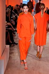 Hermes Spring 2012 Orange OpenToe Sandal in Orange - Lyst