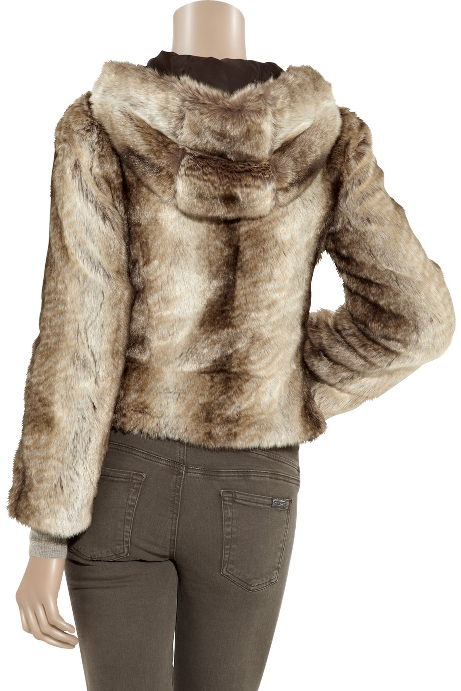 7648821f373c Juicy Couture Rex Faux Fur Hooded Jacket in Brown - Lyst