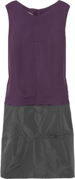 Marni Color-block Silk-blend Dress - Lyst