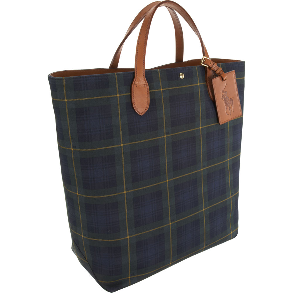 wholesale ralph lauren medium tartan tote bag for men lyst 7afb2 dac17 afd685fc75