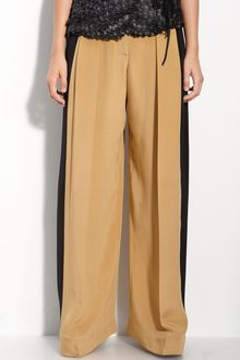 Robert Rodriguez Side Panel Wide Leg Pants - Lyst