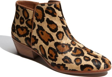Sam Edelman Petty Bootie in Animal (leopard) - Lyst