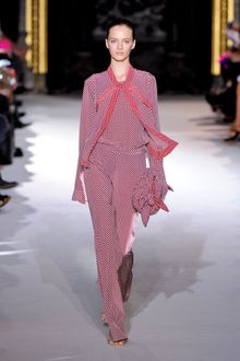 Stella McCartney Spring 2012 Red Pattern Full Lenght Jumpsuit - Lyst