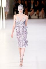 Alexander Mcqueen Spring 2012 High Waisted Fishtail Skirt in Purple (grey, purple) - Lyst