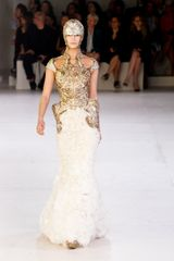 Alexander McQueen Spring 2012 Cut Out Mille-Feuille Curved Gown - Lyst