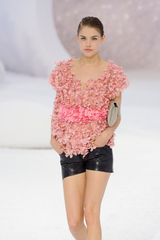 Chanel Spring 2012 Pink Short Sleeve Petal Top - Lyst