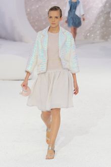 Chanel Spring 2012 Iridescent 3/4 Sleeve Jacket - Lyst