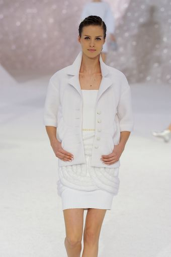Chanel Spring 2012 White 3/4 Sleeve Jacket - Lyst