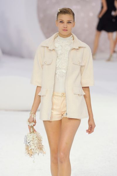 Chanel Spring 2012 Pink Short Sleeve Zipped Jacket  in Pink (natural) - Lyst