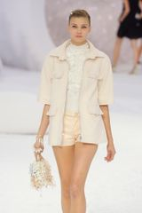 Chanel Spring 2012 Pink Leather Mini Shorts - Lyst