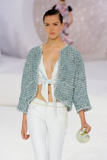 Chanel Spring 2012 Boxy Tweed Jacket - Lyst