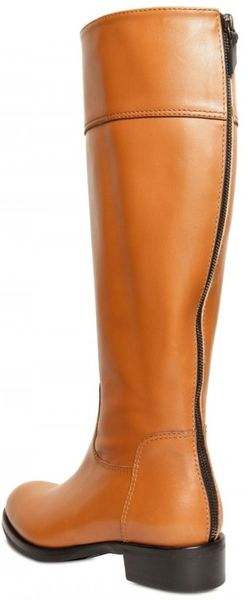 Diego Dolcini 25mm Calfskin Riding Boots In Beige Camel