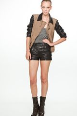 Diesel Black Gold Gatter Leather Jacket in Black - Lyst