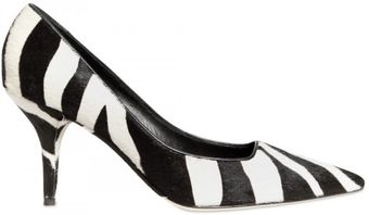 Dolce & Gabbana 70mm Zebra Printed Pony Pumps - Lyst