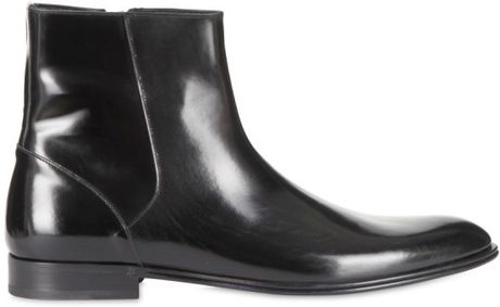 Dolce & Gabbana Brushed Calfskin Low Boots in Black for Men - Lyst
