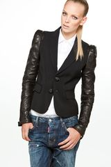 DSquared2 Iselin Biker 2 Button Jacket in Black - Lyst