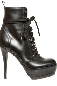 Gianvito Rossi 120mm Calfskin Lace Up Low Boots - Lyst