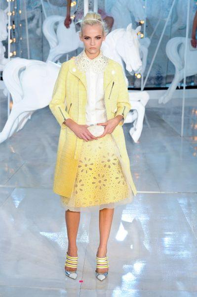 Louis Vuitton Spring 2012 Yellow Motorcycle Jacket with Cropped Sleeves  in Yellow - Lyst