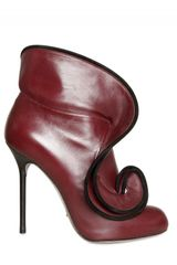 Sergio Rossi 110mm Calfskin Ruches Low Boots - Lyst