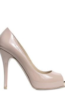 Valentino 120mm Patent Open Toe Pumps - Lyst