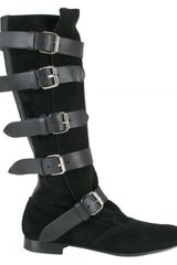 Vivienne Westwood 20mm Suede and Calf Buckle Straps Boots - Lyst