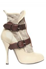Vivienne Westwood 130mm Suede and Calf Buckle Low Boots