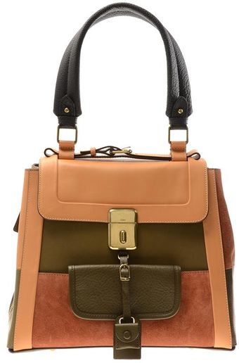 Chloé Darla Patchwork Leather Handbag - Lyst