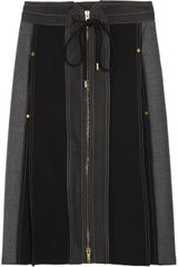 Derek Lam Two-tone Wool-blend and Twill Skirt - Lyst