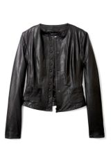 D&g Black Leather Panelled Jacket in Black - Lyst