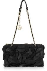 DKNY Petal-trimmed Leather Shoulder Bag - Lyst