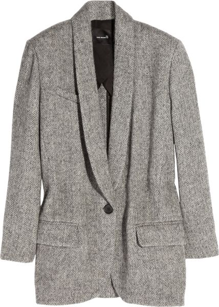 Isabel Marant Kalimba Wool-blend Coat in Gray - Lyst