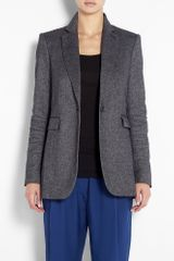Joseph Laurent Tweed Leather Elbow Patch Jacket in Gray (black) - Lyst