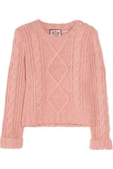 Juicy Couture Cable-knit Wool-blend Sweater - Lyst