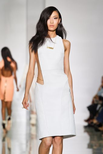 Kanye West Spring 2012 White Cut Out Knee Lenght Dress - Lyst