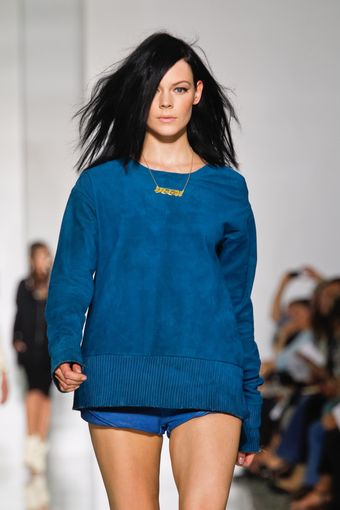 Kanye West Spring 2012 Blue Long Sleeve Jumper - Lyst