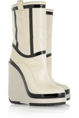 Marc Jacobs Patent-leather Wedge Boots - Lyst