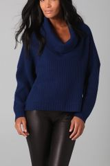 Mason by Michelle Mason Cowl Neck Sweater - Lyst