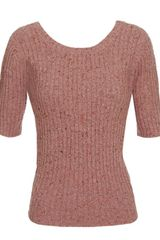 Opening Ceremony Virgin Woolblend Knit Sweater with Scoop Back in Pink - Lyst
