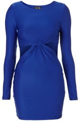Topshop Twist Cut Out Bodycon Dress - Lyst