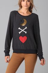 Wildfox Spellbound Baggy Beach Sweatshirt - Lyst
