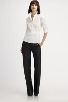 Akris Punto Structured Cotton Shirt - Lyst