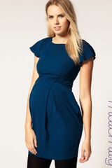 ASOS Collection Asos Maternity Tulip Dress with Fluted Sleeve - Lyst