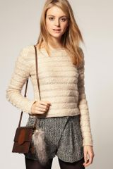 Asos Collection Asos Faux Fur Racoon Tail in Brown (grey) - Lyst