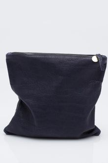 Clare Vivier Fold-over Clutch in Navy - Lyst