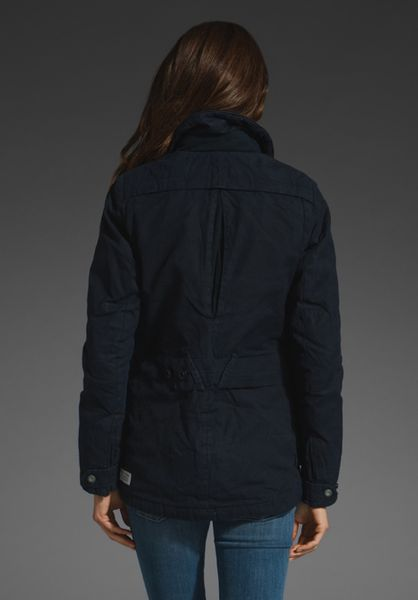G Star Raw Hiker Field Waxed Canvas Jacket In Blue Python