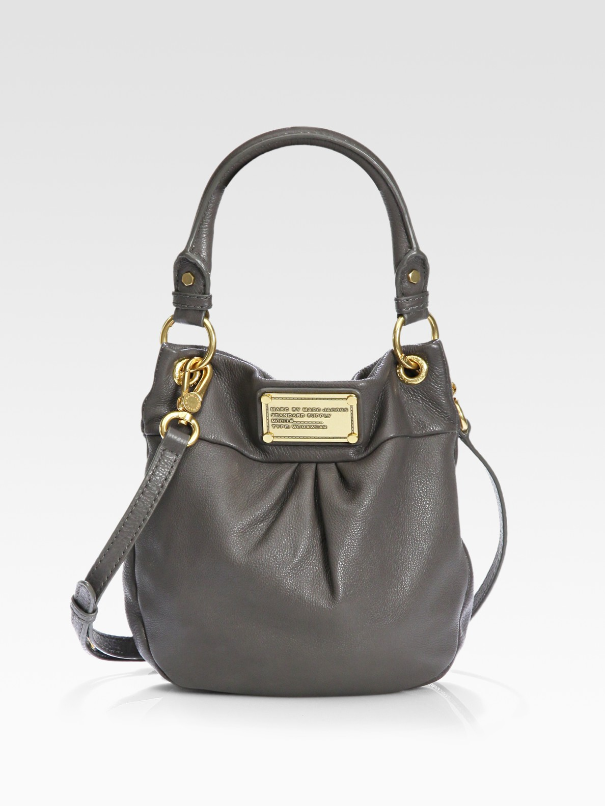 cd7542172ff Marc By Marc Jacobs Classic Q Mini Hillier Hobo Bag in Black - Lyst