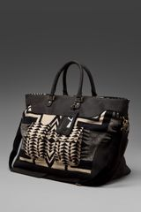 Pendleton, The Portland Collection Luggage Bag in Black/tan - Lyst