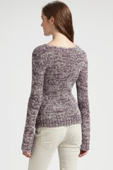 Theory Honorata Marled Cottonrich Sweater in Purple (multi) - Lyst